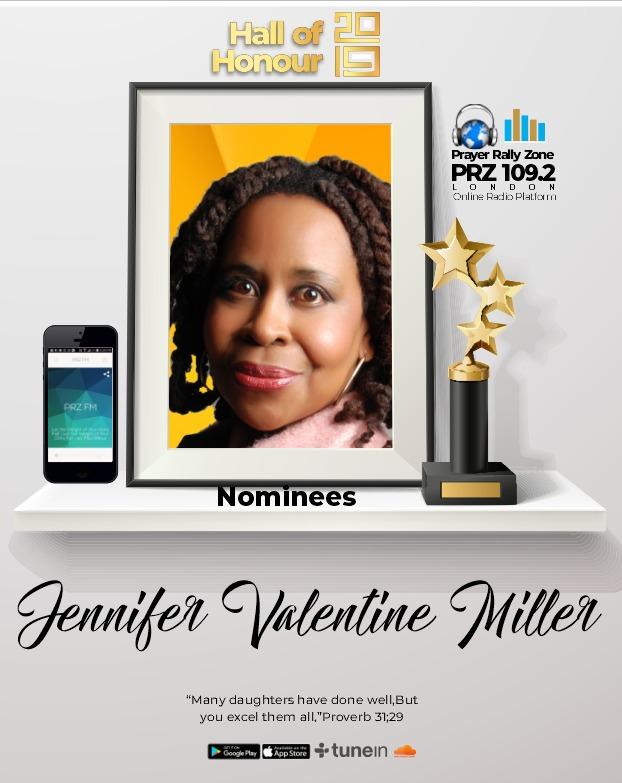 jennifer valentine-miller New Year's honour